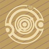 stock photo of unexplained  - ufo crop circles design in wheat - JPG