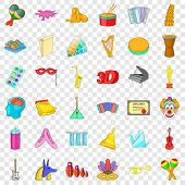 Art College Icons Set. Cartoon Style Of 36 Art College Icons For Web For Any Design poster