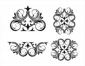 Vintage Engraving Ornament Vector Isolated On Black Background, Border Ornament Pattern Frame, Engra poster