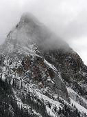 Mountain Peak In Cloud