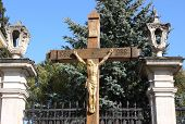 pic of yuri  - The cross with crucified Christ is set in courtyard of St - JPG