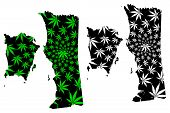 Penang (states And Federal Territories Of Malaysia, Federation Of Malaysia) Map Is Designed Cannabis poster