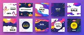 Square Social Media Banner. Fashion Sale Design, Promotion Graphic Layout Template. Vector Trendy Ne poster