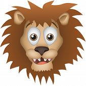 Lion Vector Cartoon Illustration