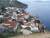 pic of hydra  - View of Kamini on the Greek Island of Hydra - JPG