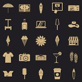 Tourist Shopping Icons Set. Simple Set Of 25 Tourist Shopping Icons For Web For Any Design poster