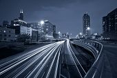 image of willy  - Toned image of multi lane highway in Chicago downtown - JPG
