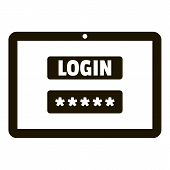 Login Password Security Icon. Simple Illustration Of Login Password Security Vector Icon For Web Des poster