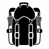Tourist Backpack Icon. Simple Illustration Of Tourist Backpack Vector Icon For Web Design Isolated O poster