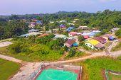 Aerial View Of The Bukit Kuda Village With Houses & Street In Labuan Island,malaysia.bukit Kuda Vill poster