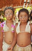 Brazilian Indian Girls In Typical Costumes