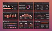 Presentation Templates Vector, Infographic Dashboards. Modern Infographic Interface Pages. Illustrat poster