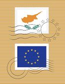 Cyprus And Eu - Stamps With Flag