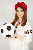 Ukrainian  Holding A Ball