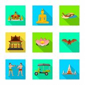 Isolated Object Of Journey And Exotic Symbol. Set Of Journey And National Vector Icon For Stock. poster
