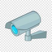 Surveillance Camera Icon. Cartoon Illustration Of Surveillance Camera Icon For Web Design poster
