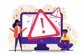 Concept Operating System Error Warning For Web Page, Banner, Presentation, Social Media, Documents,  poster