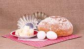stock photo of margarine  - Baking cake - JPG