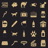 Vet Icons Set. Simple Set Of 25 Vet Icons For Web For Any Design poster