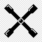Spanner Icon. Simple Illustration Of Spanner Vector Icon For Web poster