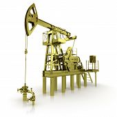 image of oil rig  - Golden Machine Oil Pump - JPG