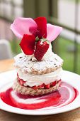 Delicious Strawberry Short Cake With Beautiful Topping