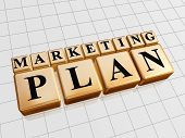 Marketing Plan - Golden Boxes With Black Letters