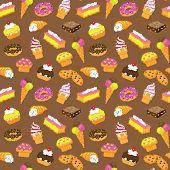 Sweets pixelated seamless pattern