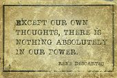 Except Our Own Thoughts, There Is Nothing Absolutely In Our Power - Ancient French Philosopher And M poster