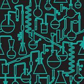 Science lab seamless pattern