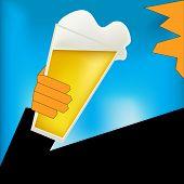 Cheers, Beer Art Deco Style Poster
