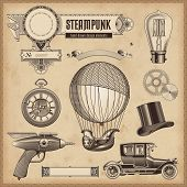 Vector Set: Steampunk-Design-Elemente