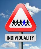 stock photo of personality  - individuality stand out from crowd being different having a unique personality be one of a kind personal development and existence - JPG
