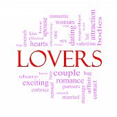 Lovers Word Cloud Concept In Pink And Red