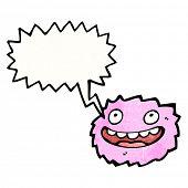 cartoon pink furry creature poster