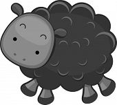 Illustration of a Black Sheep