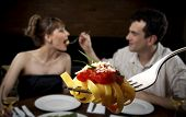 stock photo of encounter  - Romantic encounter - JPG