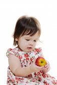 Little Girl Holds Apple