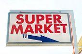 Signboard for Super market