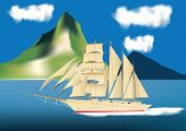 Sailing Ship Cruise Liner