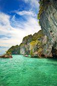 Jutting rock islands off Krabi, Thailand