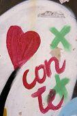 Coração pintada em uma parede