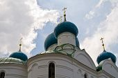 picture of uglich  - Cupola of Bogoyavlensky Cathedral in Uglich - JPG