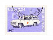 Ambulance On A Stamp