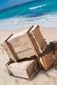 Life saving supplies on a beach