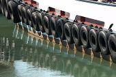 Tires On Tug Boat. Portsmouth. England