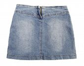 picture of jeans skirt  - Blue jeans skirt - JPG