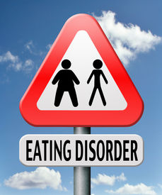 stock photo of bulimic  - eating disorder anorexia obesity obese or too skinny - JPG