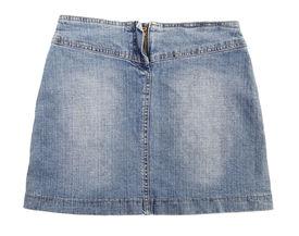 stock photo of jeans skirt  - Blue jeans skirt - JPG