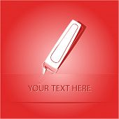 Felt pen. Paper sticker as bookmark. Vector illustration. Eps10.